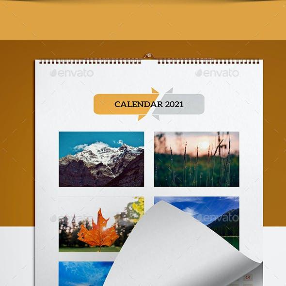 Wall Calendar for 2021-V20