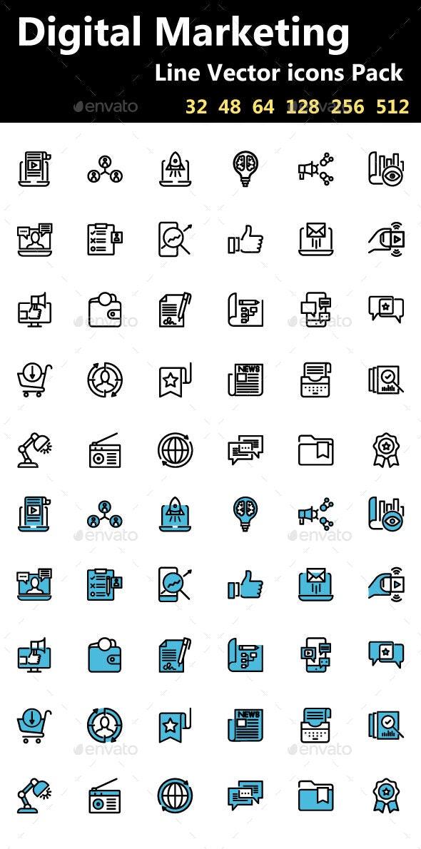 Digital Marketing Icons - Icons