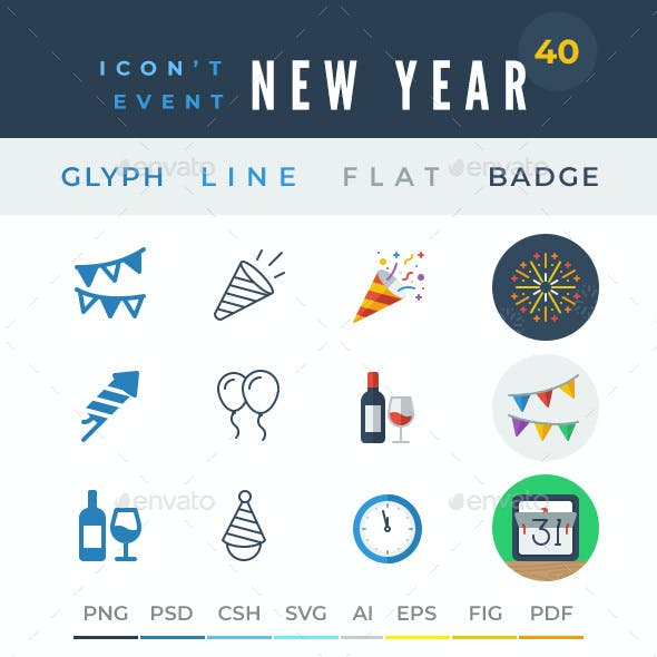 Icon't Event - 40 New Year Icons
