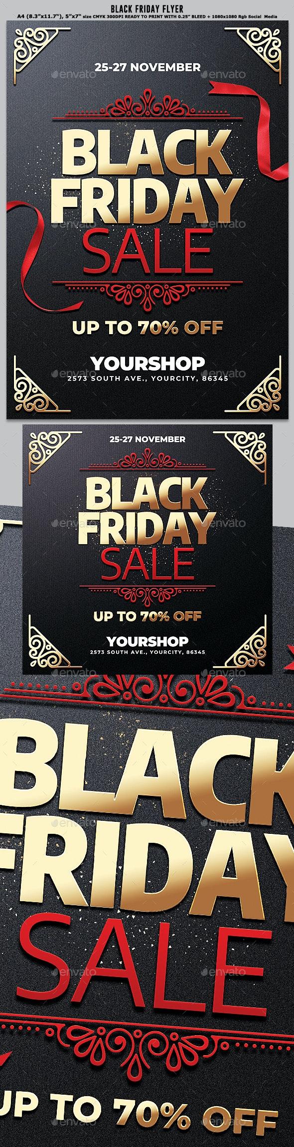 Black Friday Flyer By Black Dot Graphicriver