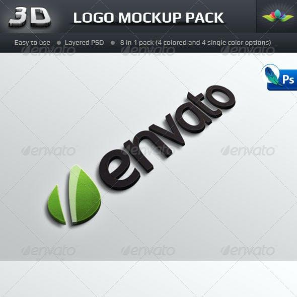 Photorealistic 3D Logo Mockup Pack