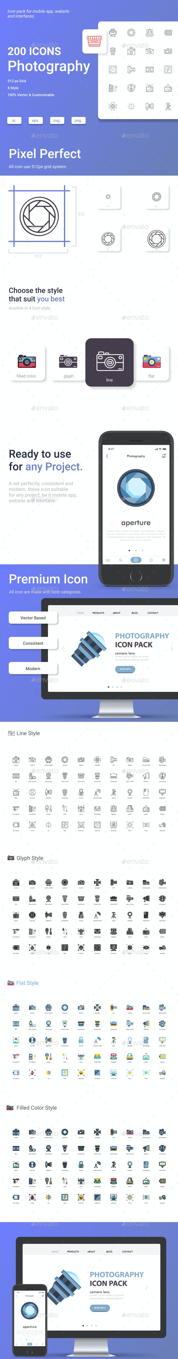 Photography icon Pack - Business Icons