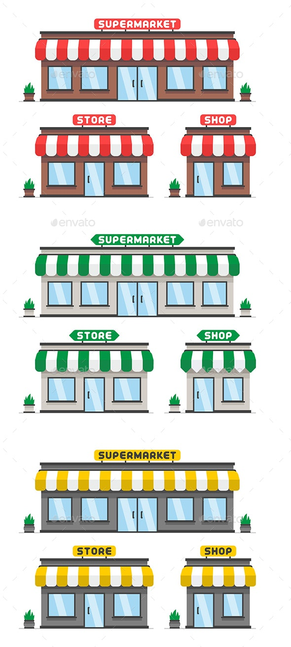 Store or Shop Facade - Buildings Objects