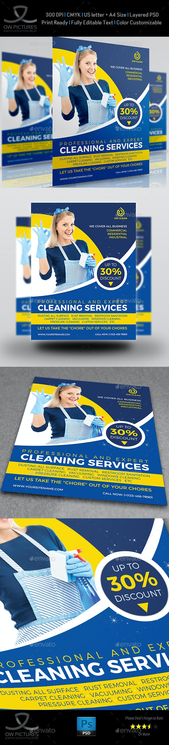 Cleaning Services Flyer Template Vol.5 - Flyers Print Templates