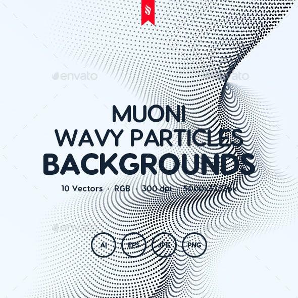 Muoni - Science Wavy Particles Background Set