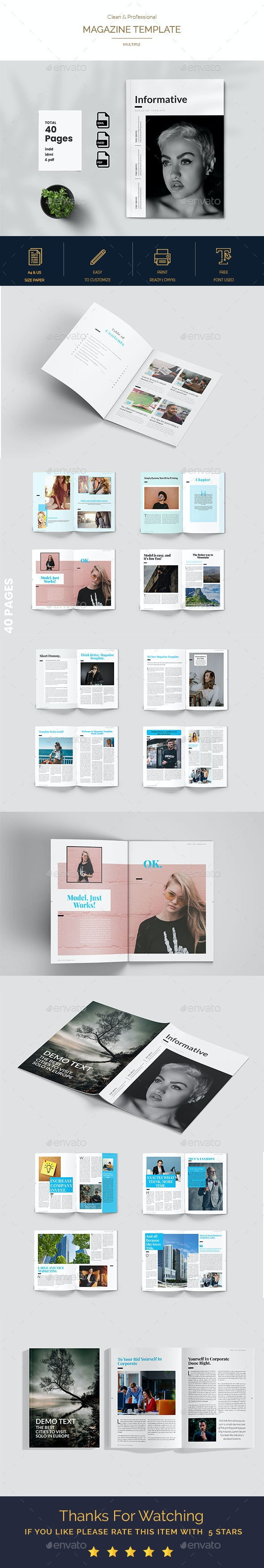 Informative Magazine Template - Magazines Print Templates