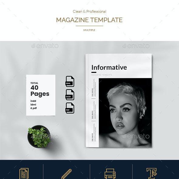 Informative Magazine Template
