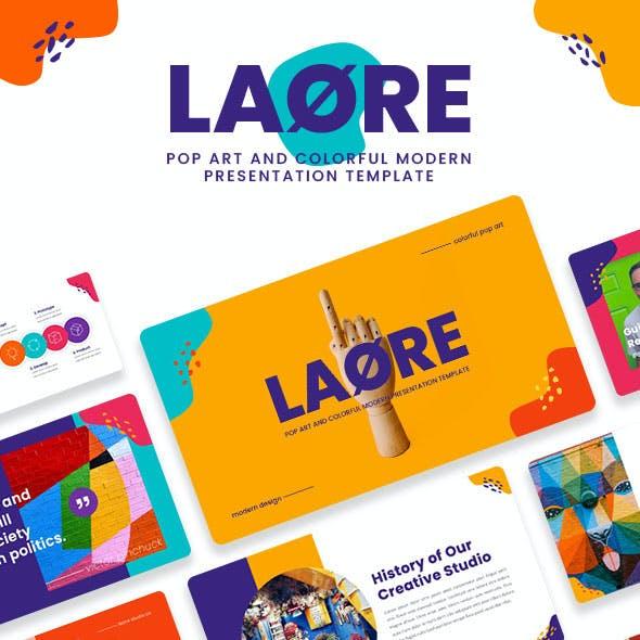 LAORE – Pop art & Colorful Google Slide Template