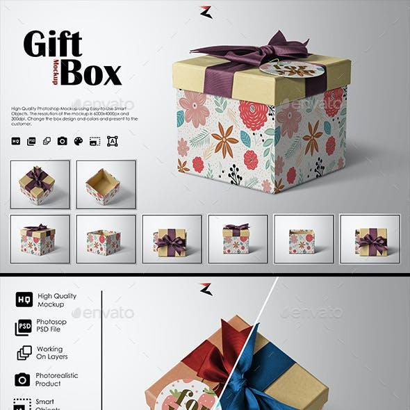 Gift Box Mockup 6K
