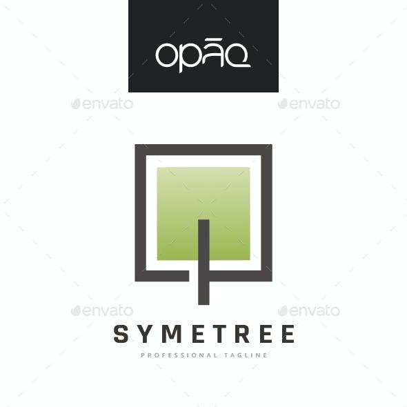 Square Pixel Tree Logo