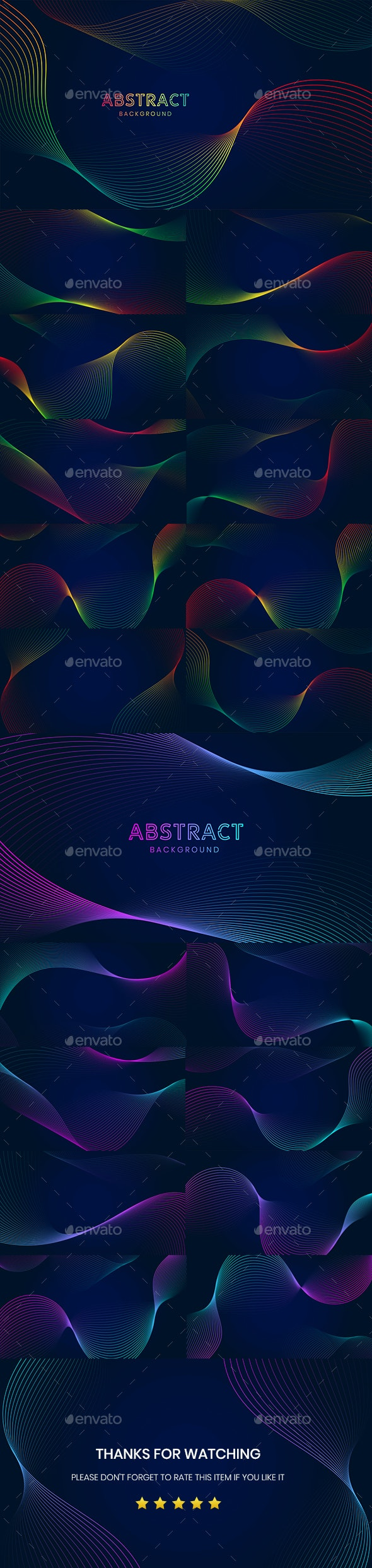 Abstract Background With Wavy Lines - Backgrounds Graphics