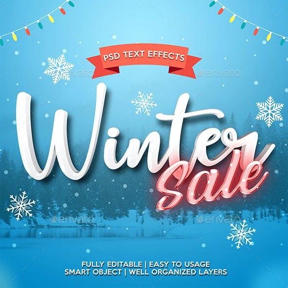 Winter Sale Text Effect Template