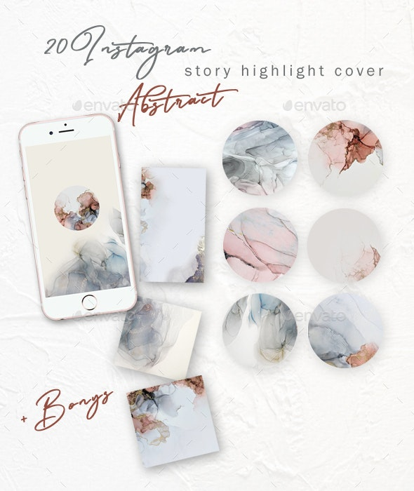 Instagram Story Highlight Covers - Social Media Web Elements