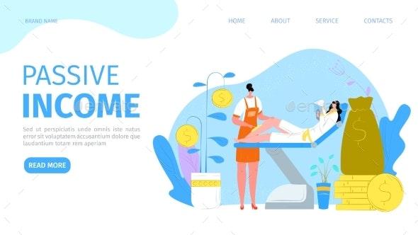 Passive Income Landing Page Vector Illustration - Business Conceptual