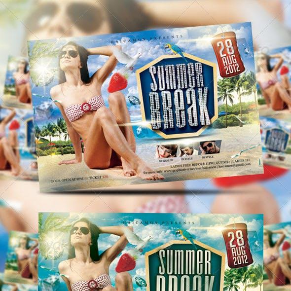 Summer Break Party Flyer Vol_10