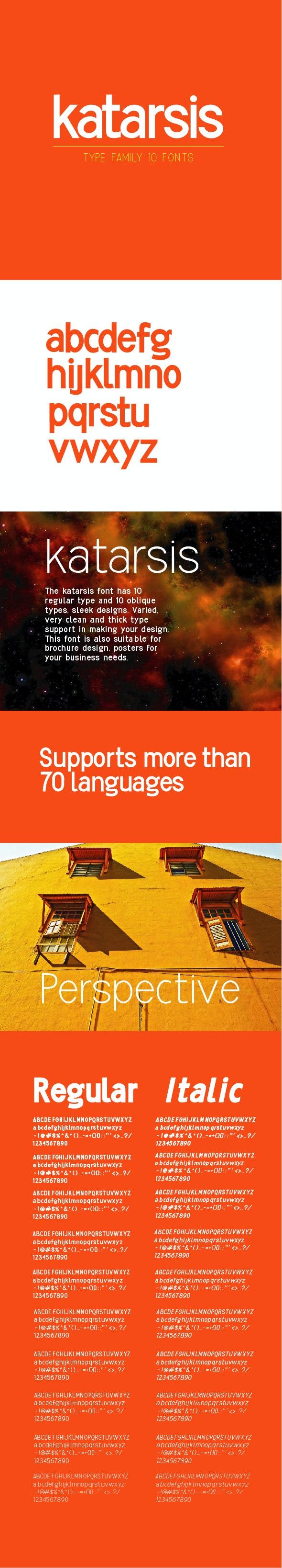 Katarsis Font - Sans-Serif Fonts