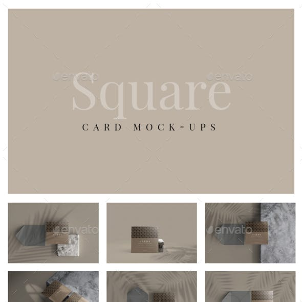 Multipurpose Square Card Mockups