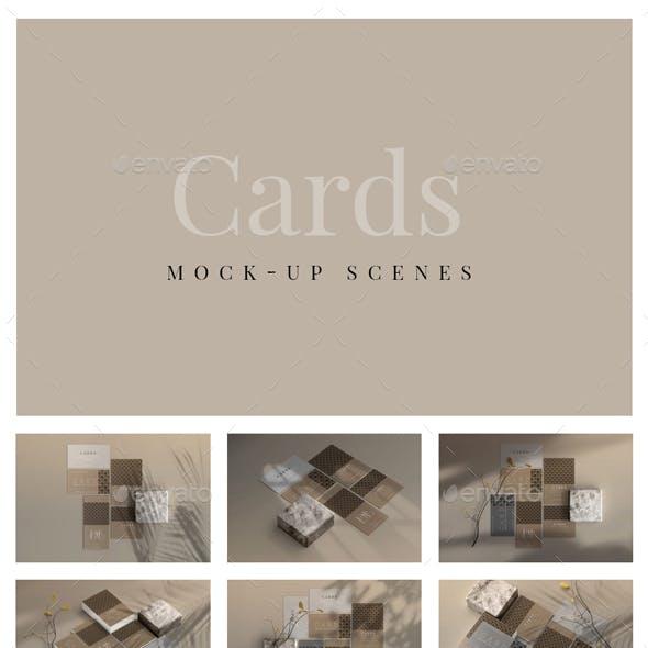 Card Mock-Up Scenes