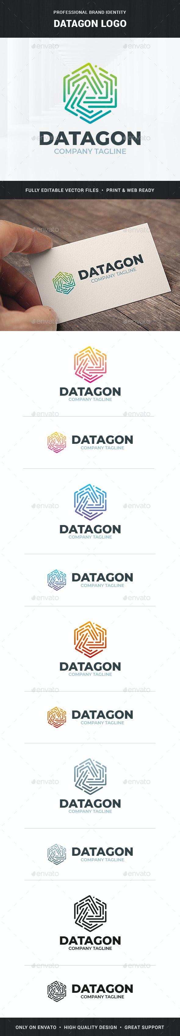 Datagon Logo Template - Abstract Logo Templates