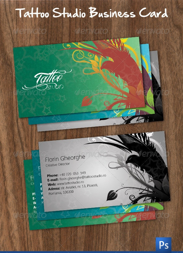 Tattoo Studio Business Card - Industry Specific Business Cards
