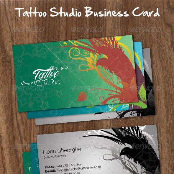 Tattoo Studio Business Card