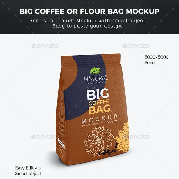 Coffee or Flour Bag Mockup