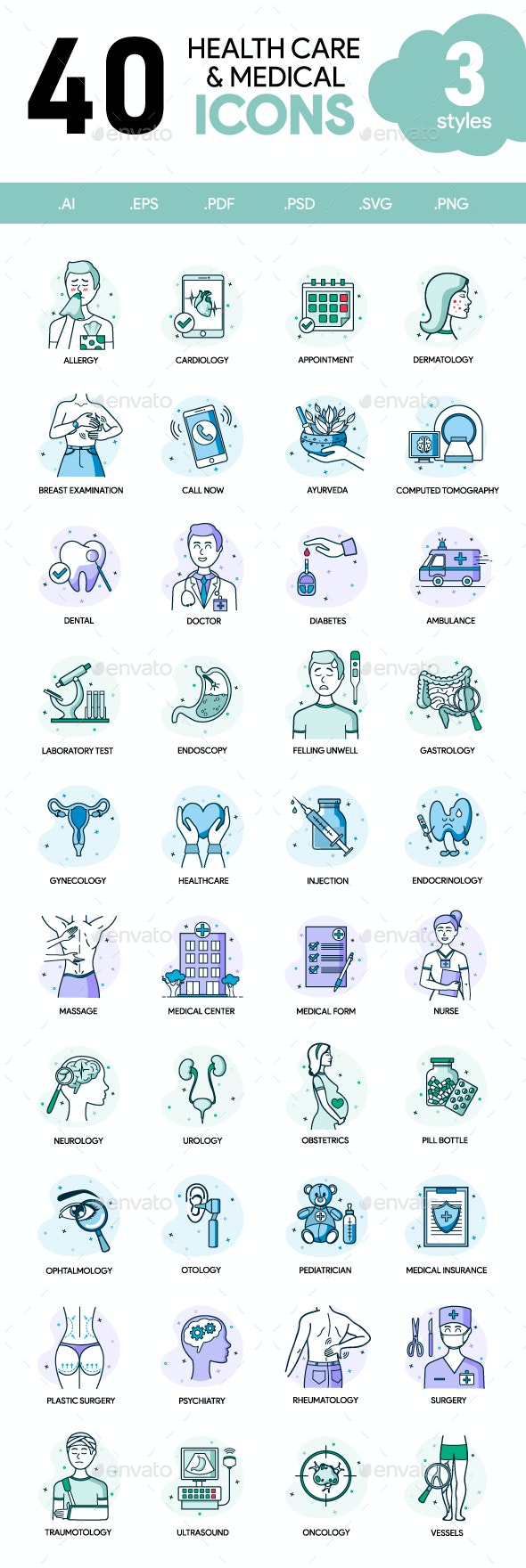 Health Care & Medical Icons - Icons