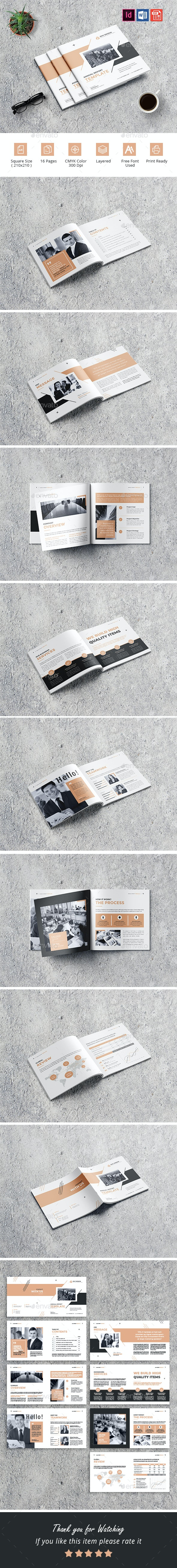 Square Annual Report Template - Corporate Brochures