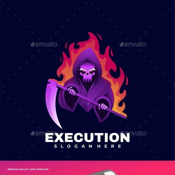 Execution Gradient Logo Template
