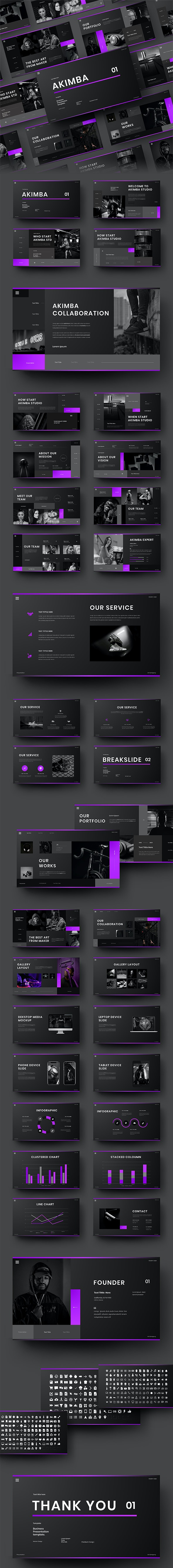 Akimba – Business PowerPoint Template - Business PowerPoint Templates