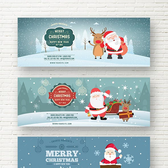 Christmas New Year Web Sliders