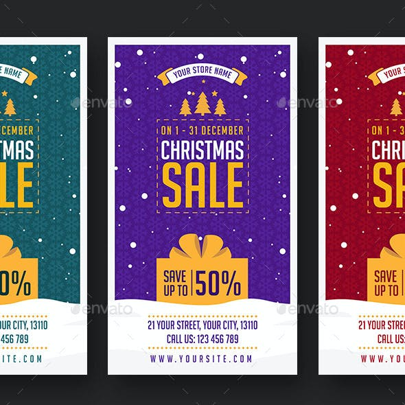 Christmas Sale Social Media Stories