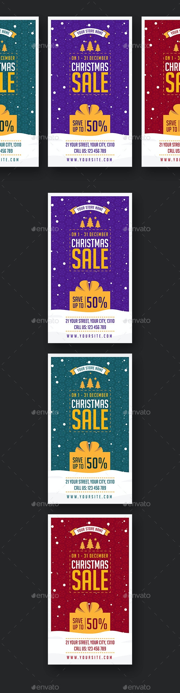 Christmas Sale Social Media Stories - Social Media Web Elements