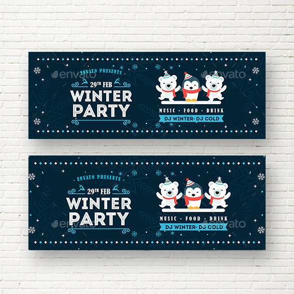 Winter Party Web Sliders