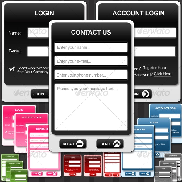 Stylish Web Forms - Forms Web Elements