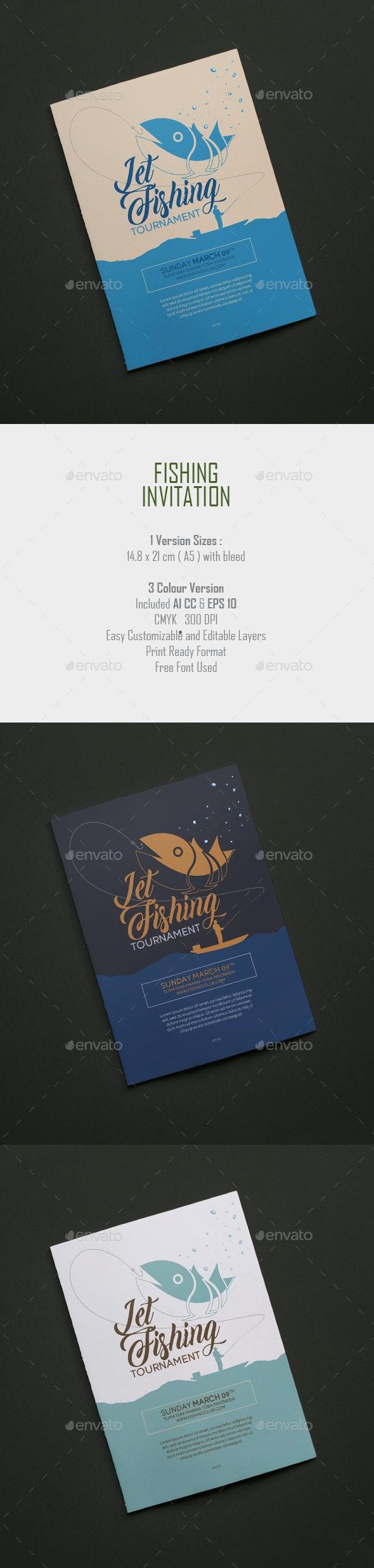 Fishing Invitation - Flyers Print Templates