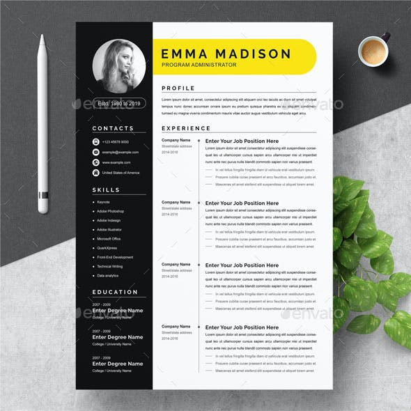 Professional Black Resume