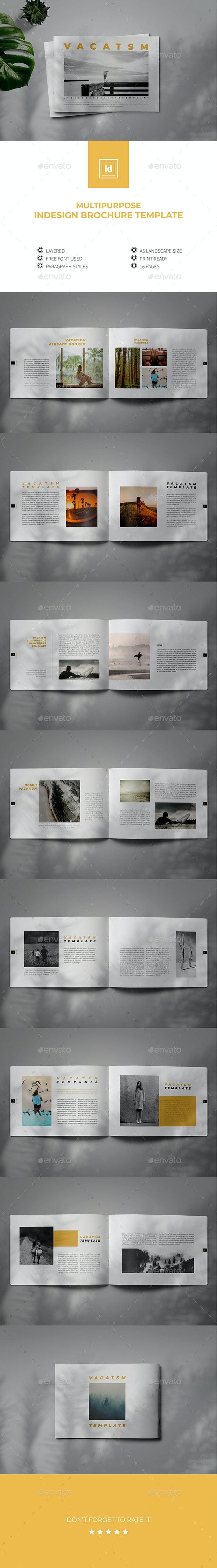 Multipurpose Indesign Brochure Lookbook Template - Brochures Print Templates