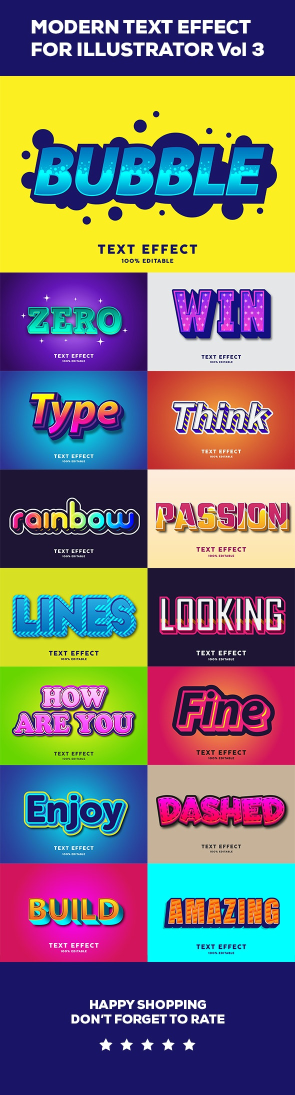 Modern Text effect vol 3 - Styles Illustrator