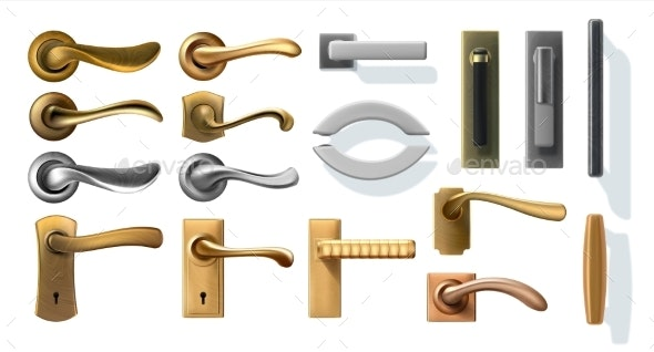 Door Handles - Man-made Objects Objects
