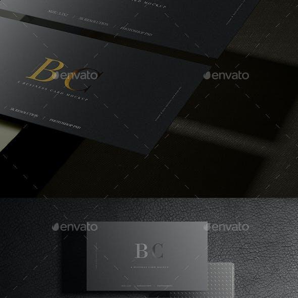 Dark Business Card Mockups