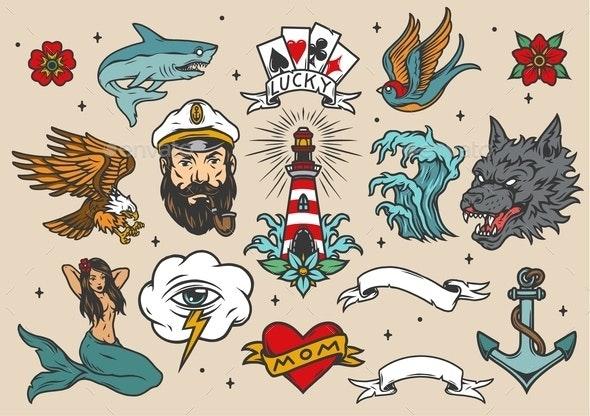 Nautical Set - Animals Characters