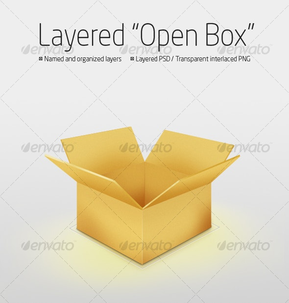 Layered OpenBox - Objects Illustrations
