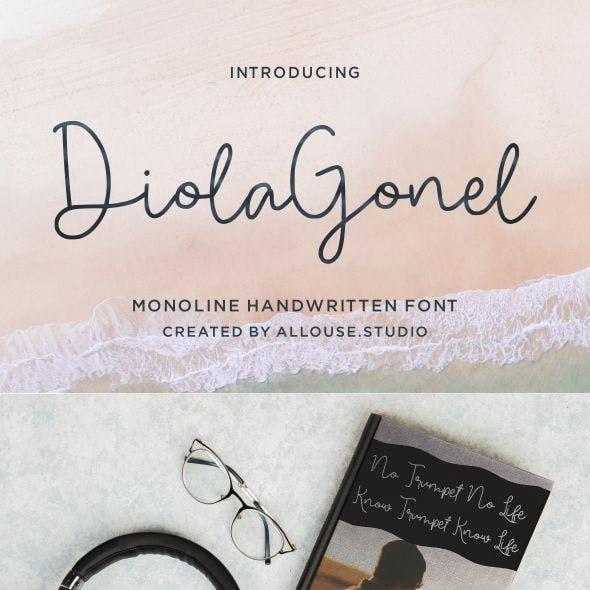 Diola Gonel | Monoline Handwritten