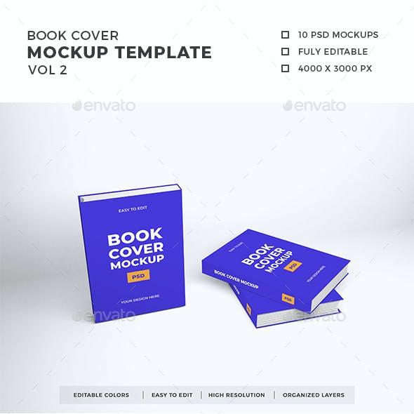 Book Cover Mockup Template Vol 2