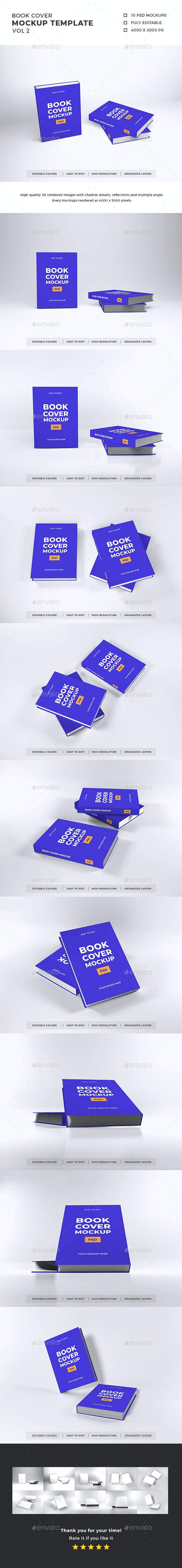 Book Cover Mockup Template Vol 2 - Books Print