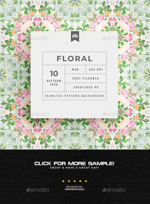 Floral Seamless Pattern - Background - Patterns Backgrounds