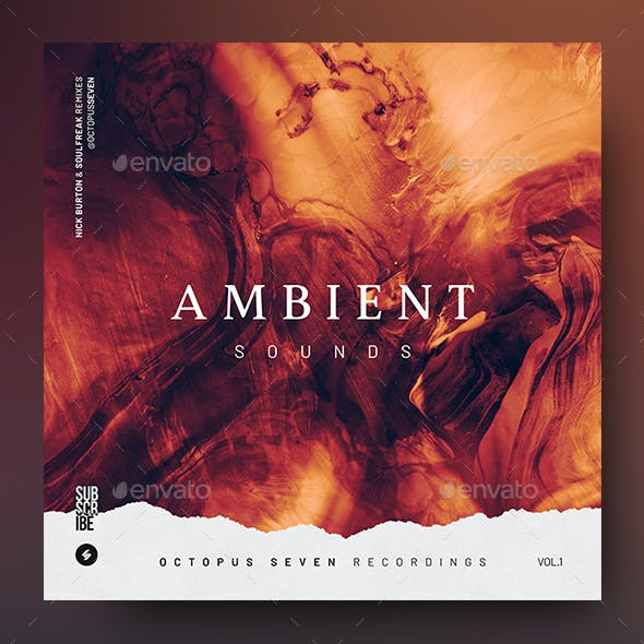 Ambient Sounds – Music Album Cover Artwork / Video Thumbnail Template