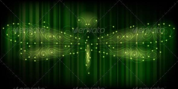 Shiny Dragonfly - Characters Vectors