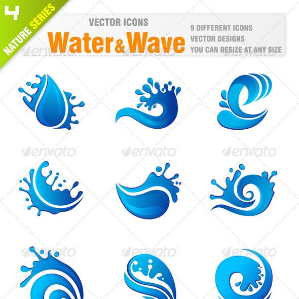 Water & Wave icons